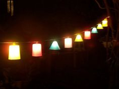 DIY lanterns from plastic cups. Whoa... those look surprisingly sophisticated, considering their humble origins!