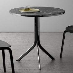 Folding round table BISTRO | Marble table - RETEGUI