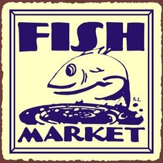 Fish Market Vintage Metal Art Beach Seafood Retro Tin Sign by Vintage Metal Art. $32.00. Makes a great statement individually or in collections. Makes a great gift and a terrific conversation piece!. Original artwork by world renowned artist Robert N. Lawrence. Proudly manufactured in the U.S.A.. Full in-house customization services available. This charming vintage beach and seafood collectible sign provides just the right accent for your home, the restaurant or ...