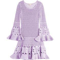 MICHAEL KORS Cashmere-Cotton Crochet Dress