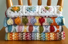 Baby blanket crochet patterns by Little Doolally