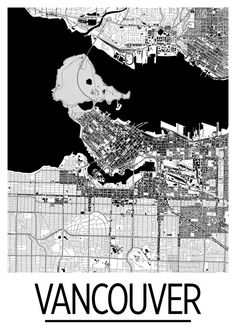 Our Vancouver map poster lay out the amazing geography and street patterns of the city. The Vancouver map is printed in high saturation ink on 10.3