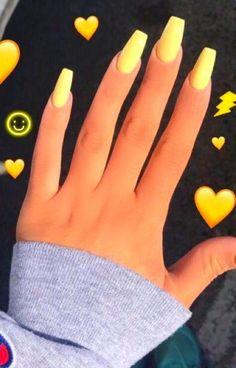 yellow nails acrylic & yellow nails ` yellow nails acrylic ` yellow nails design ` yellow nails short ` yellow nails coffin ` yellow nails acrylic coffin ` yellow nails with glitter ` yellow nails acrylic short Acrylic Nails Yellow, Summer Acrylic Nails, Cute Acrylic Nails, Acrylic Nail Designs For Summer, Fake Nail Designs, Fake Nail Ideas, Nails Summer Colors, Acrylic Nail Designs Coffin, Coffin Nails Designs Summer
