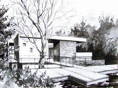 Modern houses - concepts by Ksymena Borczyńska, via Behance