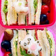 寒い雨の朝((((;゚Д゚)))))) そろそろ朝がきつくなって来ました そんな時のサンドウィッチリクエストは嬉しい   ☆サンドウィッチ(卵・胡瓜・レタス・チーズ&卵・トマト・ハム・レタス)☆ポテト肉巻き☆ベリーA☆ - 56件のもぐもぐ - Lunch box☆sandwich✈️サンドウィッチ by Ami