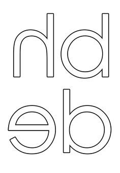 Printable Back To Front Lowercase Alphabet For DIY Montessori Sandpaper Letters