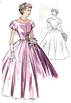 1950's Bridal Dress