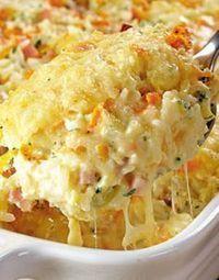 Cocina italiana: receta de arroz al horno con queso #recetas
