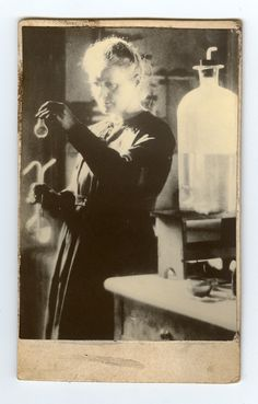 Marie Curie in her University of Paris laboratory, 1925