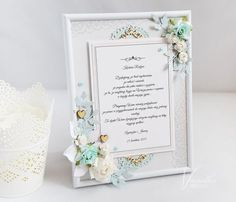 Wedding Card from Elusive Dreams collection by the MiNi art. Wedding Cards, Scrapbooking, Mini, Inspiration, Decor, Art, Dreams, Collection, Wedding Ecards
