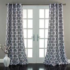 Chainlink Window Curtains Set