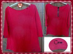 le t-shirt rouge zippé et son tuto/DIY CTM