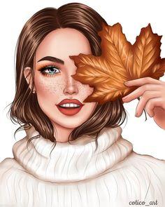 Cartoon Girl Images, Girl Cartoon, Cartoon Art, Cute Wallpaper Backgrounds, Cute Wallpapers, Arte Fashion, Lilo E Stitch, Girly M, Autumn Illustration