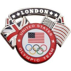Price:  - London 2012 Team USA Olympic Team Dual Flag Pin - TO ORDER, CLICK ON PHOTO