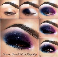 Galaxy Eye Makeup Style