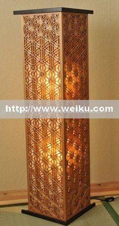 Japanese kumiko lighting fixture Residential Lighting Floor Lamps
