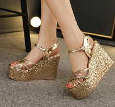 8b36a35d340 Luxury Gold Strap Ballroom Dance Shoes High Heels 2015 New Sandals For Women  Red Heels Elegant Wedding Bridal Shoes Size 35 To 40 Bridesmaid Shoes Pumps  ...
