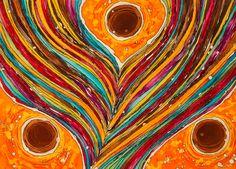 """""""Ensemble"""" Modern Batik /  artist: Gabrielle Lasporte ByGabrielle Modern Batik + Textile Art"""