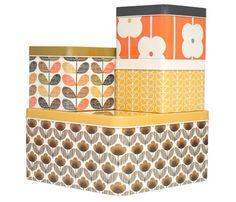 set of four kitchen storage tins