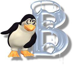 Alfabeto de hielo con pingüinos.   Oh my Alfabetos!