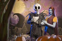 Jack Skellington and Sally Debut at Mickey's Not-So-Scary Halloween Party at Magic Kingdom Park. #NotSoScary
