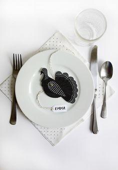 Printable Table Turkeys