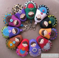 Pakamera Arte - broches - Matrioshka estilo popular II :)