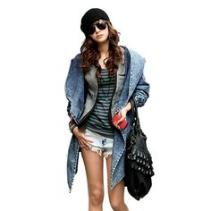 Denim Trench Coat and Jean Hoodie outerwear. #womensfashion #cool