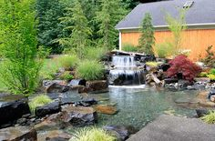 Water Features & Waterscaping - Gallery   Alderwood Landscaping Redmond, Washington Residence Water Feature and Pond