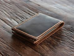 Men's Leather Wallet --- Minimalist Bifold - Ultra Slim Without Limitations - 002 - Groomsmen Gifts Fun Birthday Presents they will remember on Etsy, $39.00