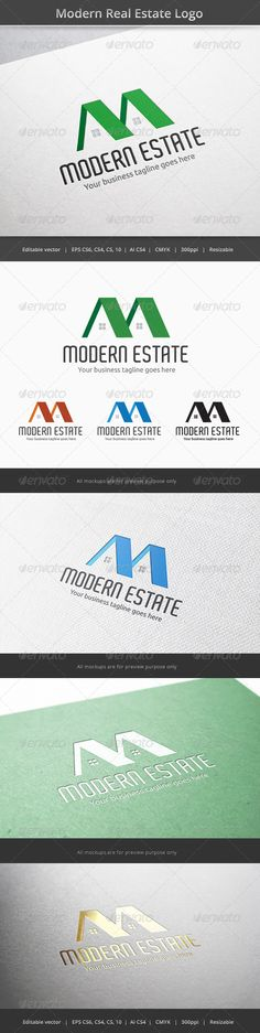 Modern Real Estate Logo  #GraphicRiver         Files format : EPS 10, EPS CS, EPS CS4, EPS CS6, AI CS4   Color mode : CMYK   Resolution : 300PPI – Resizable   Free used font links included.                     Created: 26 November 13                    Graphics Files Included:   Vector EPS #AI Illustrator                   Layered:   No                   Minimum Adobe CS Version:   CS                   Resolution:   Resizable             Tags      agent #build #building #buy #construction…