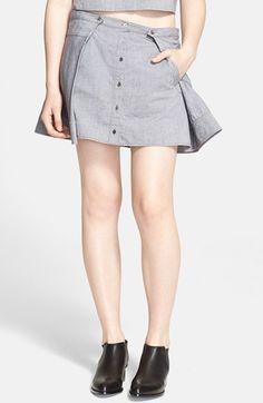 Women's T by Alexander Wang Cotton Oxford Miniskirt