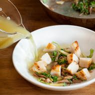 Scallops in Dashi-Citrus Broth with Bok Choy and Shiitake Mushrooms from the Tasting Table Test Kitchen