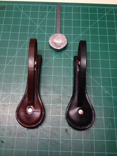 """This Jack Sap is the perfect size, 6"""" long and weighting in at a hefty 14 OZ its a real show stopper. The lead is cast on a tempered flat spring. It is encased in 4 layers layers of beautiful thick veg tanned leather and has a  very thick strap. I hand stitch all my saps with a saddlestitch this stitch is stronger than a machine stitch. This is one of my newest models the 375 Magnum. http://battleax2013.blogspot.com/"""