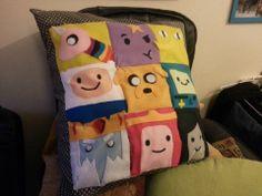 Homemade adventure time cushion