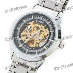 Stainless Steel Self-Winding Mechanical Wristwatch