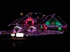 *Worlds best Christmas light display to music
