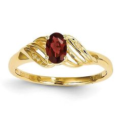 14k Garnet Diamond Ring XBR274