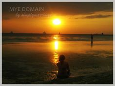 Beautiful sunset by the seaside in Boracay