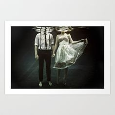 I wish I had a good place to put this.   abyss of the disheartened : IV Art Print by Heather Landis