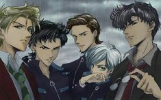 This is the coolest picture ever! Men ( and Haruka) of Sailor Moon!