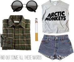 """yeah arctic monkeys"" by hightowngirl ❤ liked on Polyvore"