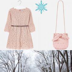 Concepe🌸🌺 o ținută all pink cu o rochie din dantelă foarte sofisticată și o geantă cu aplicații chic ce compune o ținută specială!  Coduri produse: 7930TI18NUDE, 10520TI18NUDE  #marabukids #mayoral #tinutazilei Boutique, Boutiques
