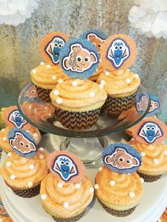 How much fun are these Nemo cupcakes? Don't miss this awesome Birthday Party!! See more party ideas and share yours at CatchMyParty.com