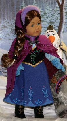 Frozen Anna 13 pc Ensemble, HANDMADE fits American Girl Doll  by Doll Closet Heirlooms via eBay Final Bid $305 + FREE SHIPPING!
