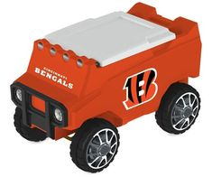 Let the fun begin with your remote control Cincinnati Bengals Cooler. Holds 30 cans plus ice. Officially licensed by the NFL. Free shipping. Excellent quality. Visit sportsfansplus.com for details.