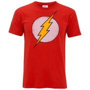 Geek Clothing DC Comics Mens Flash Distress T-Shirt - Red - S Men™s red Flash T-shirt from DC Comics with the fastest man alives signature lightning bolt crest to the chest and a distressed outline. Crafted from soft cotton jersey, the regular fit tee is officia http://www.MightGet.com/march-2017-1/geek-clothing-dc-comics-mens-flash-distress-t-shirt--red--s.asp