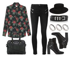 """""""Sin título #12579"""" by vany-alvarado ❤ liked on Polyvore featuring J Brand, Yves Saint Laurent, ASOS and Givenchy"""