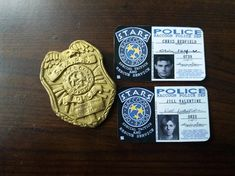Resident Evil RPD S.T.A.R.S. Racoon police department character select badge set
