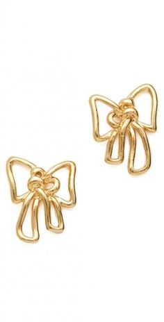 Metal Bow Stud Earrings gift jewelry